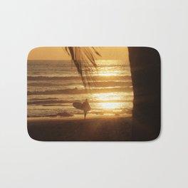 Golden Beach with Surfer (Color) Bath Mat