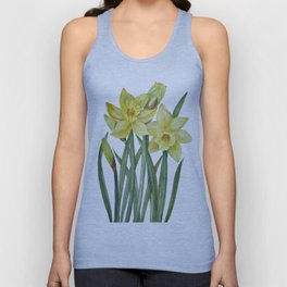 Watercolor Daffodils Botanical Illustration Unisex Tank Top