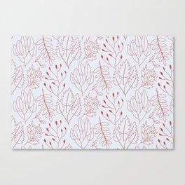 Plant leaf pattern Canvas Print
