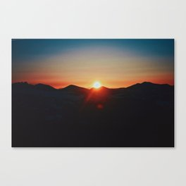 squinting at sunset Canvas Print