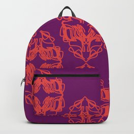 Luxury monograms Vint. pink Backpack