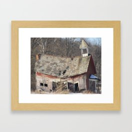 Schoolhouse Framed Art Print