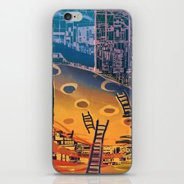 Time through Time, from Caves to Skyscraper, from Organic to Geometric iPhone Skin