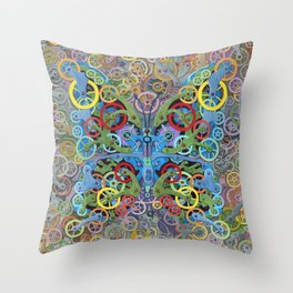 Clockwork Butterfly No. 11 Throw Pillow