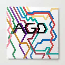 AGD Logo Metal Print