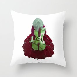 Ruby Cellist II Throw Pillow