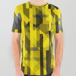 abstract composition in yellow and grays All Over Graphic Tee
