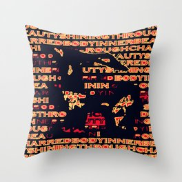 Charred 'Fragmented' Throw Pillow