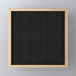 Antiallergenic Hand Knitted Black Wool Pattern - Mix & Match with Simplicty of life Framed Mini Art Print