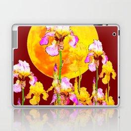 BURGUNDY SKY IRIS GARDEN RISING GOLDEN MOON Laptop & iPad Skin