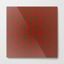 Animal Prints-Leopard Christmas Colors - Christmas Series Metal Print