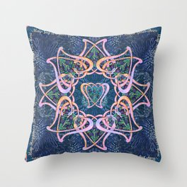 Scottish Blessing Celtic Hearts Throw Pillow