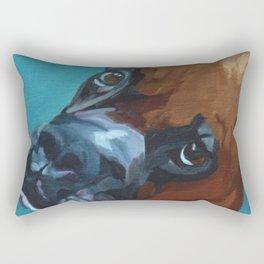 Leo the Boxer Dog Portrait Rectangular Pillow