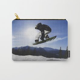 Born To Fly Snowboarder & Mountains Carry-All Pouch