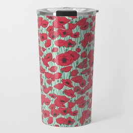 Poppies in August Travel Mug