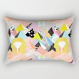 Postmodern Pyramids Rectangular Pillow