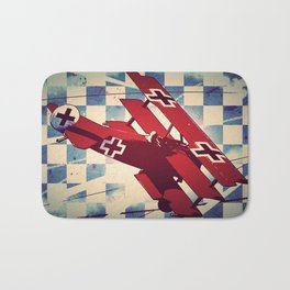 Fokker triplane (Red Baron) Pop Art Bath Mat