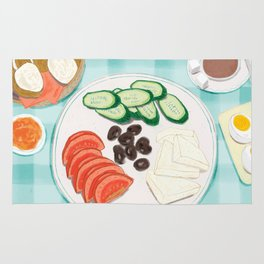 Fresh Home-cooked Turkish Breakfast Rug
