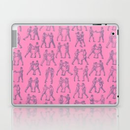 Round One BUBBLEGUM PINK / Vintage boxers Laptop & iPad Skin