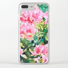 Pink Azalea Clear iPhone Case