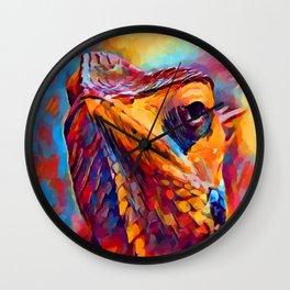 Chameleon Watercolor Wall Clock