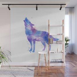 Watercolor Wolf Wall Mural