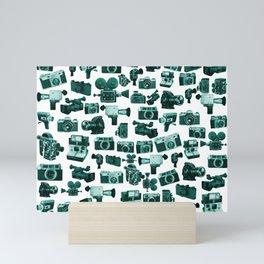 Cameras & Green Mini Art Print