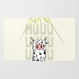 Abducted Cow Rug