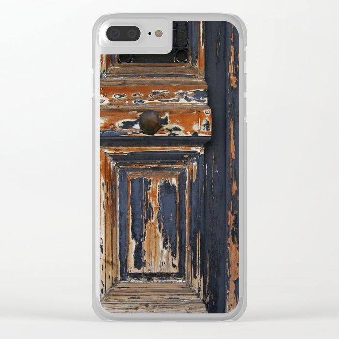 Neoclassical door Clear iPhone Case