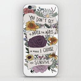 survive iPhone Skin