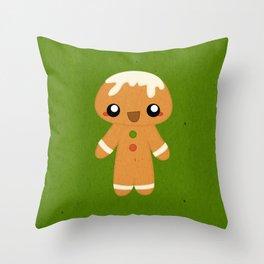 Christmas Card - Gingerbread Kid Throw Pillow