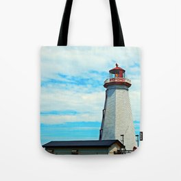 Red Light of North Cape Lighthouse Tote Bag