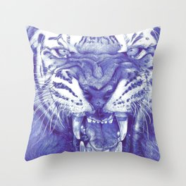 Roaring Tiger Throw Pillow