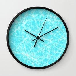 Robin Egg Blue Pattern Wall Clock