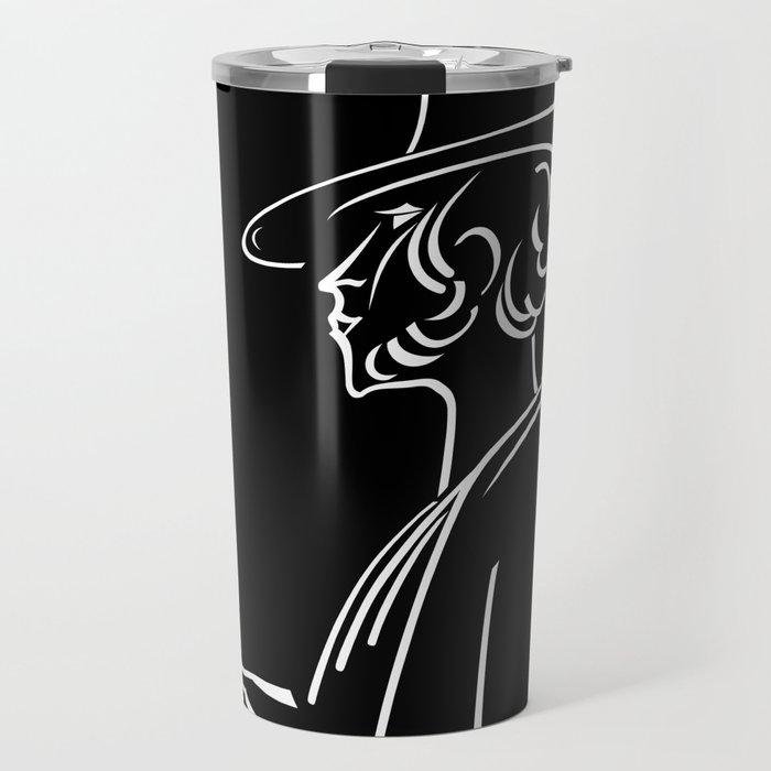 Abstract retro portrait of man Travel Mug