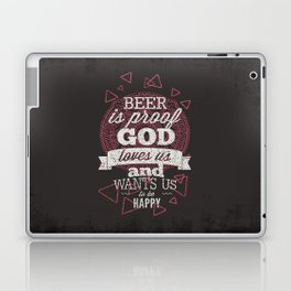 Beer is proof- Typography Laptop & iPad Skin