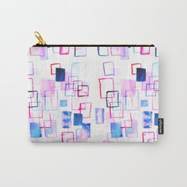 Abstract Watercolor Rectangles Carry-All Pouch