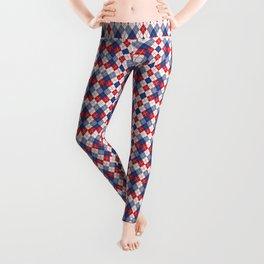 Patriotic Argyle Leggings