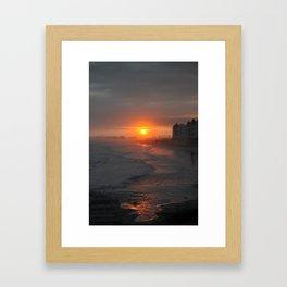 Stormy Sunset Galveston Framed Art Print