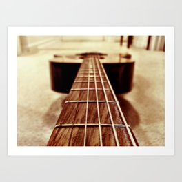 Six Strings Art Print