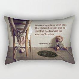 Proverbs 5:22 Rectangular Pillow