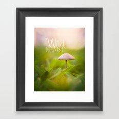 Magic Mushroom - Wild Heart Framed Art Print