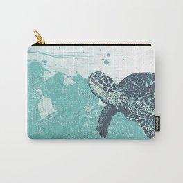 Sea Foam Sea Turtle Carry-All Pouch