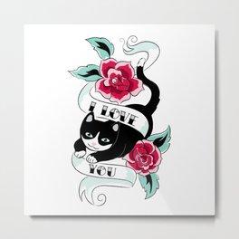 Tattoo Tux Cat Metal Print
