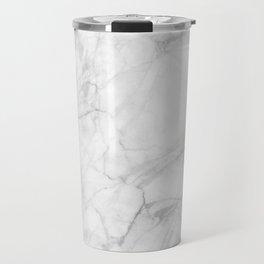 White Marble 009 Travel Mug