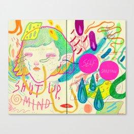 self sabotage Canvas Print