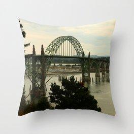 Yaquina Bay Bridge Throw Pillow