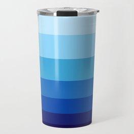 Colorful Blue Gradient Geometric Pattern Travel Mug