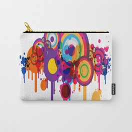 Color Paint Blobs Carry-All Pouch