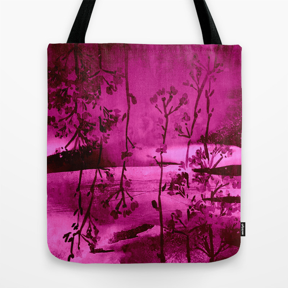 Fuchsia Landscape Tote Bag by Clemm TBG8745279